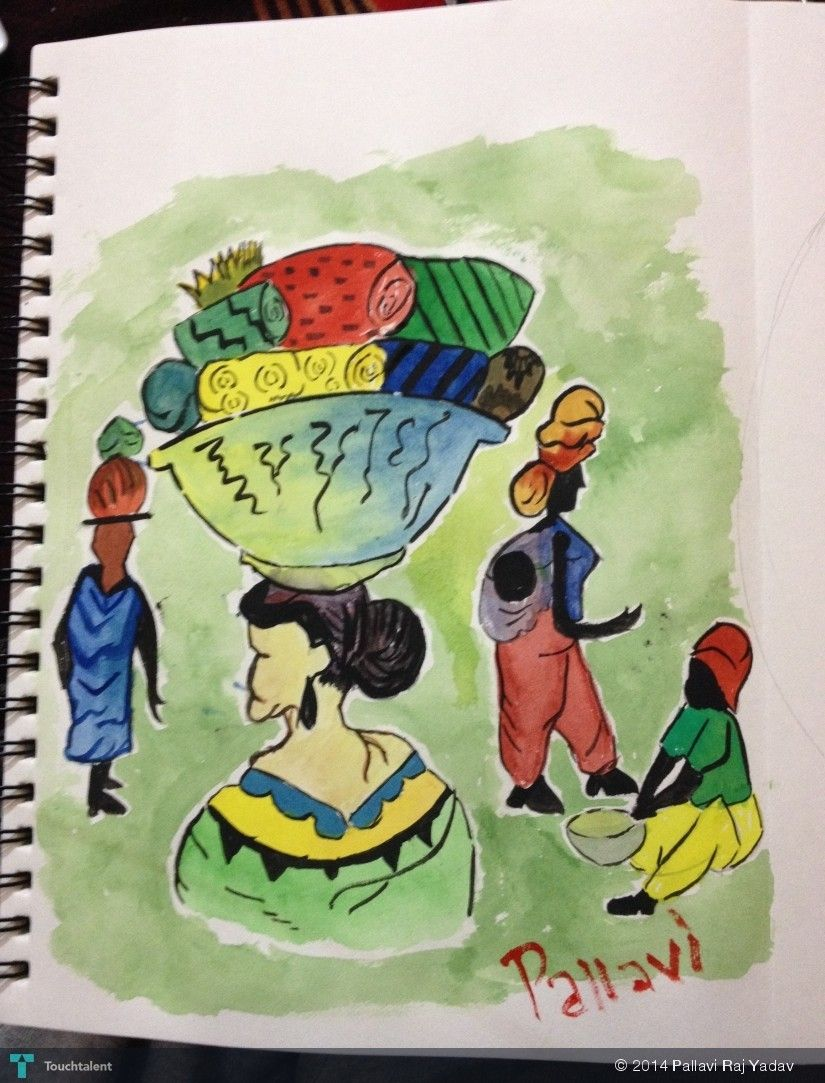 Poster Women Empowerment In Sketching Pallavi Raj Yadav Community Based Art Projects