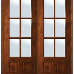 16 Inch Double French Doors Prehung French Double Door 96 Alder