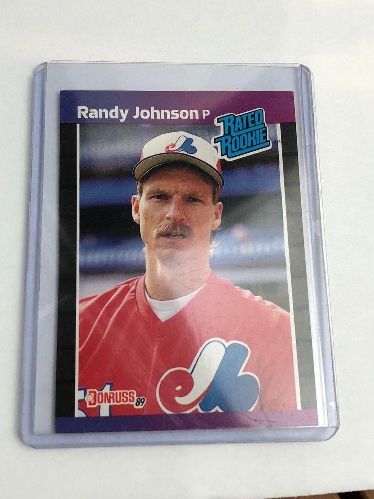 1988 leaf donruss rated rookie randy johnson 1989 42
