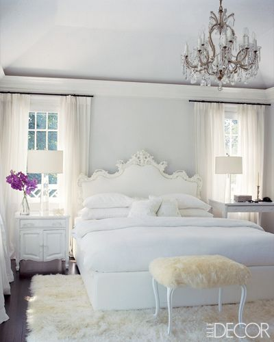 love this id never be able to keep it all white though elle decorwhite roomsall - Elle Decor Bedrooms