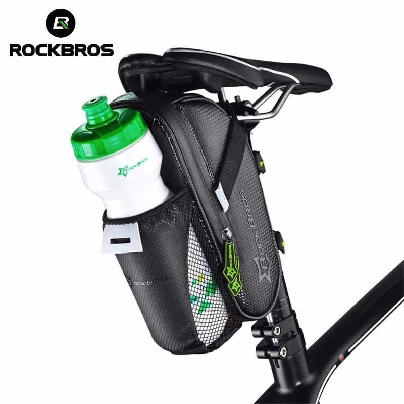 Roswheel Bike Saddle Bag With Water Bottle Pocket Bike Rear Bags Seat Tail Bag