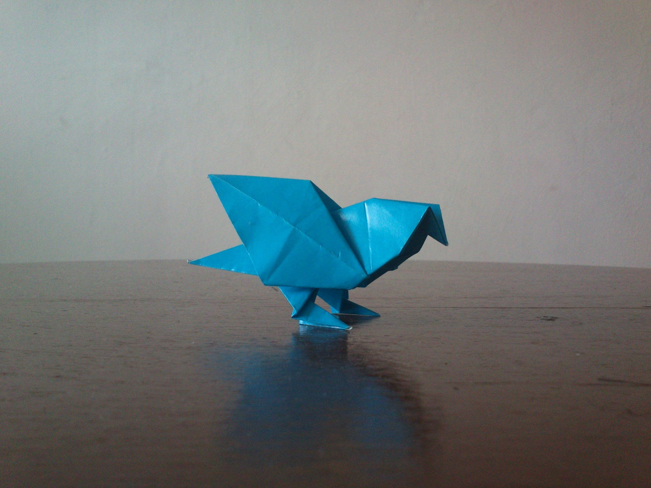 how to make an origami Dove/ Pidgeon   THE BROSHIP OF TEH ... - photo#30