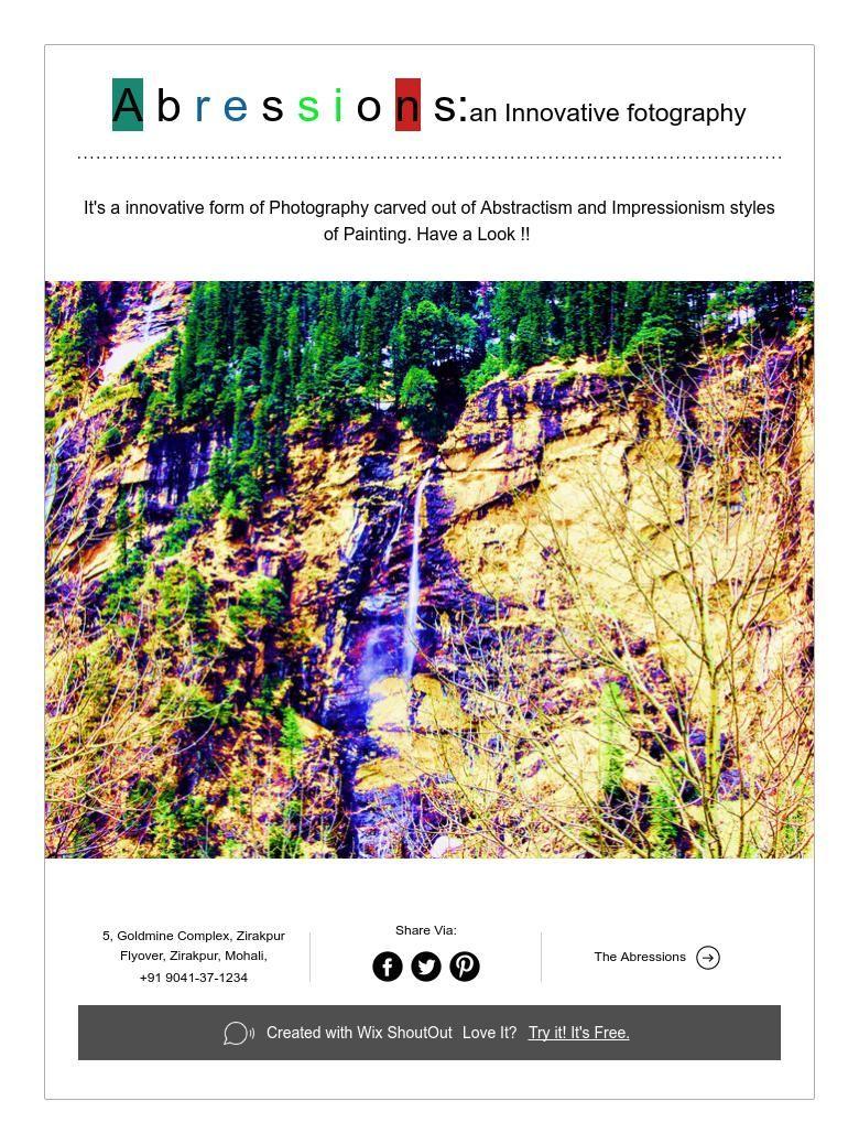 A b r e s s i ons:an Innovative fotography
