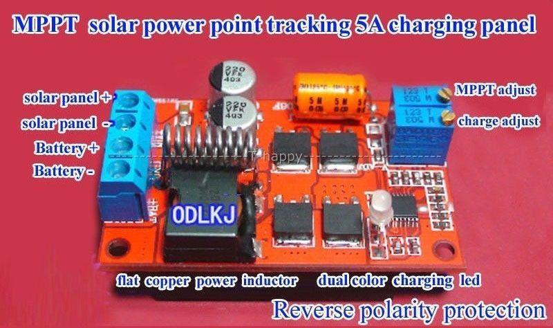 5a Mppt Solar Panel Regulator Controller Battery Charging 6v 12v 24v Auto Switch Solar Panels Solar Solar Power