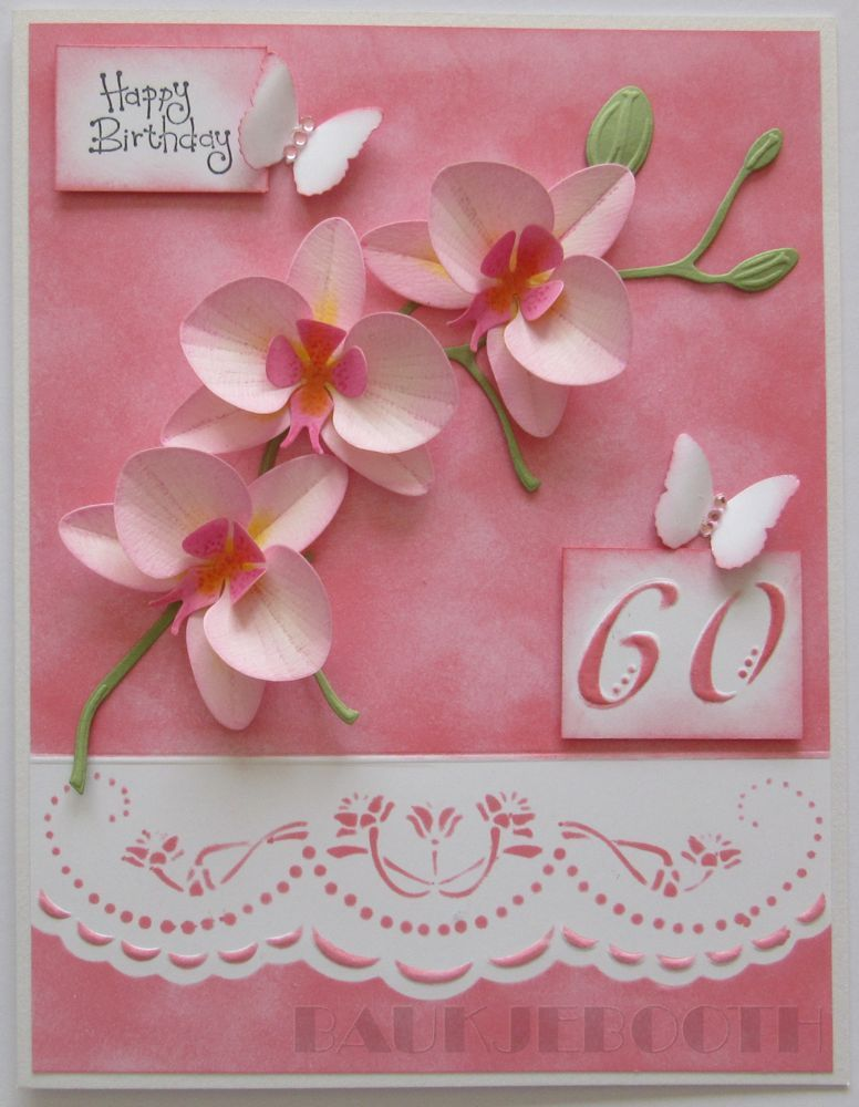 Baukje's Cards and Crafts: Orchid Cards