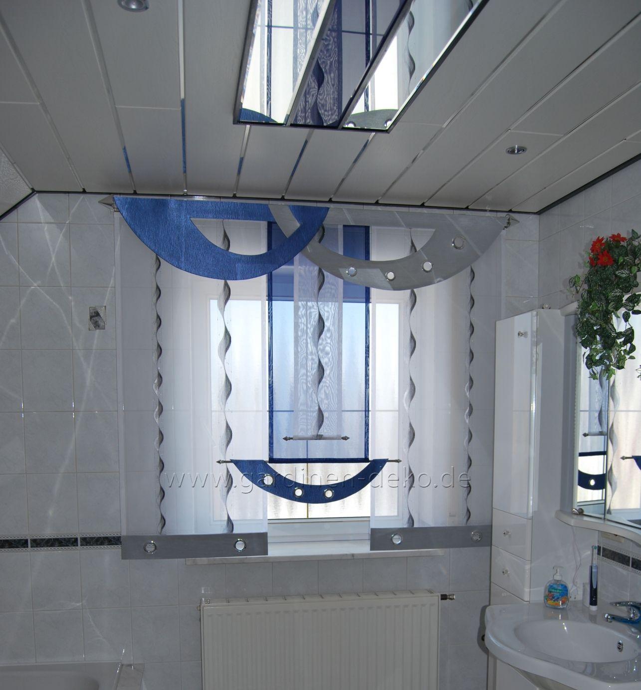 Badezimmer Schiebegardine mit modernen Bogen-Elementen - http://www ...