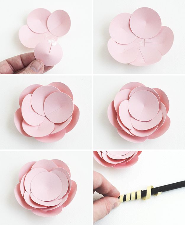Make easy paper flowers 5 fast fun tutorials scrapbook y 3d flower tutorial 2 mightylinksfo