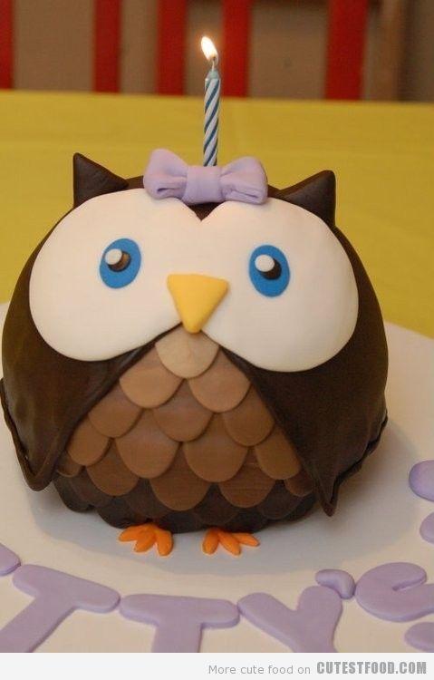 Adorable Owl Cake~ fondant-cakes