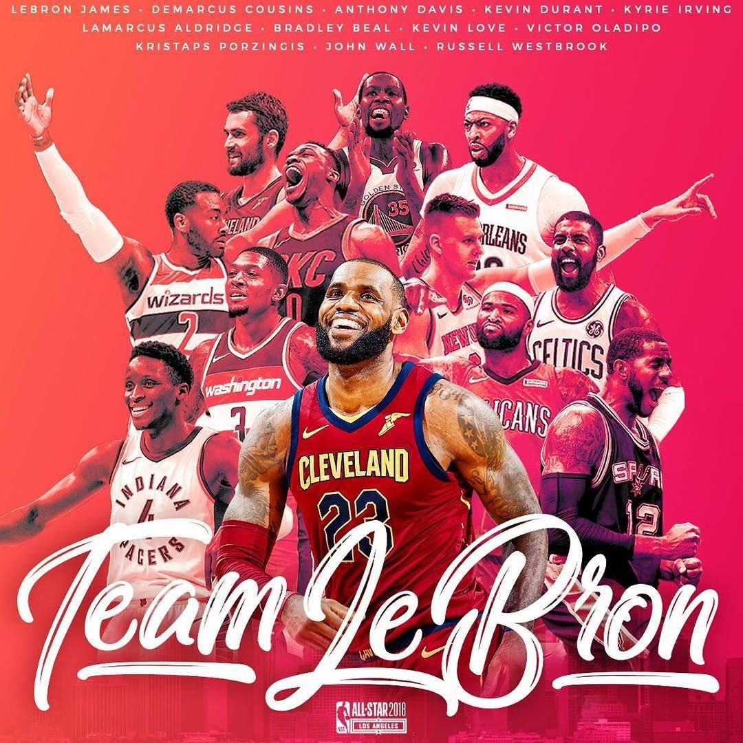 Here Is Your 2018 Nbaallstar Roster For Teamlebron Victor Oladipo Lebron James Anthony Davis
