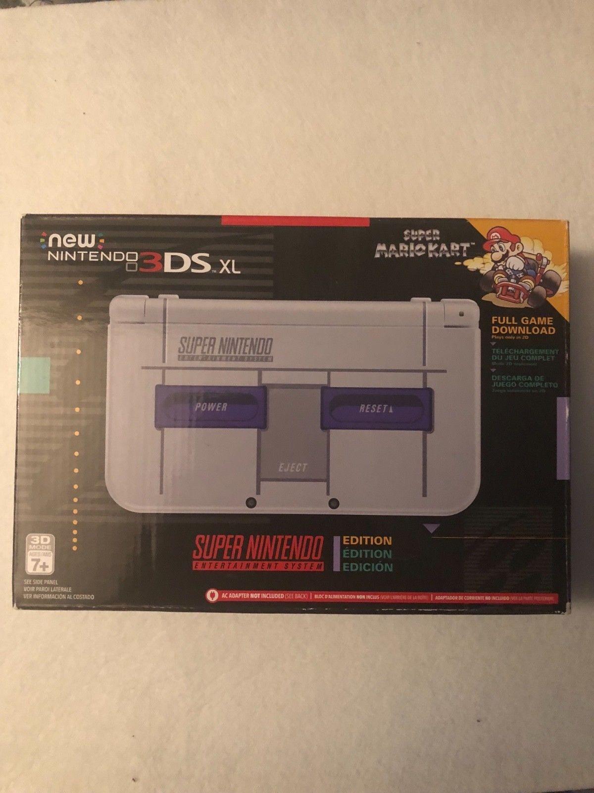 Nintendo 3ds Xl Retro Nes Limited Edition Us Version W Mario Kart