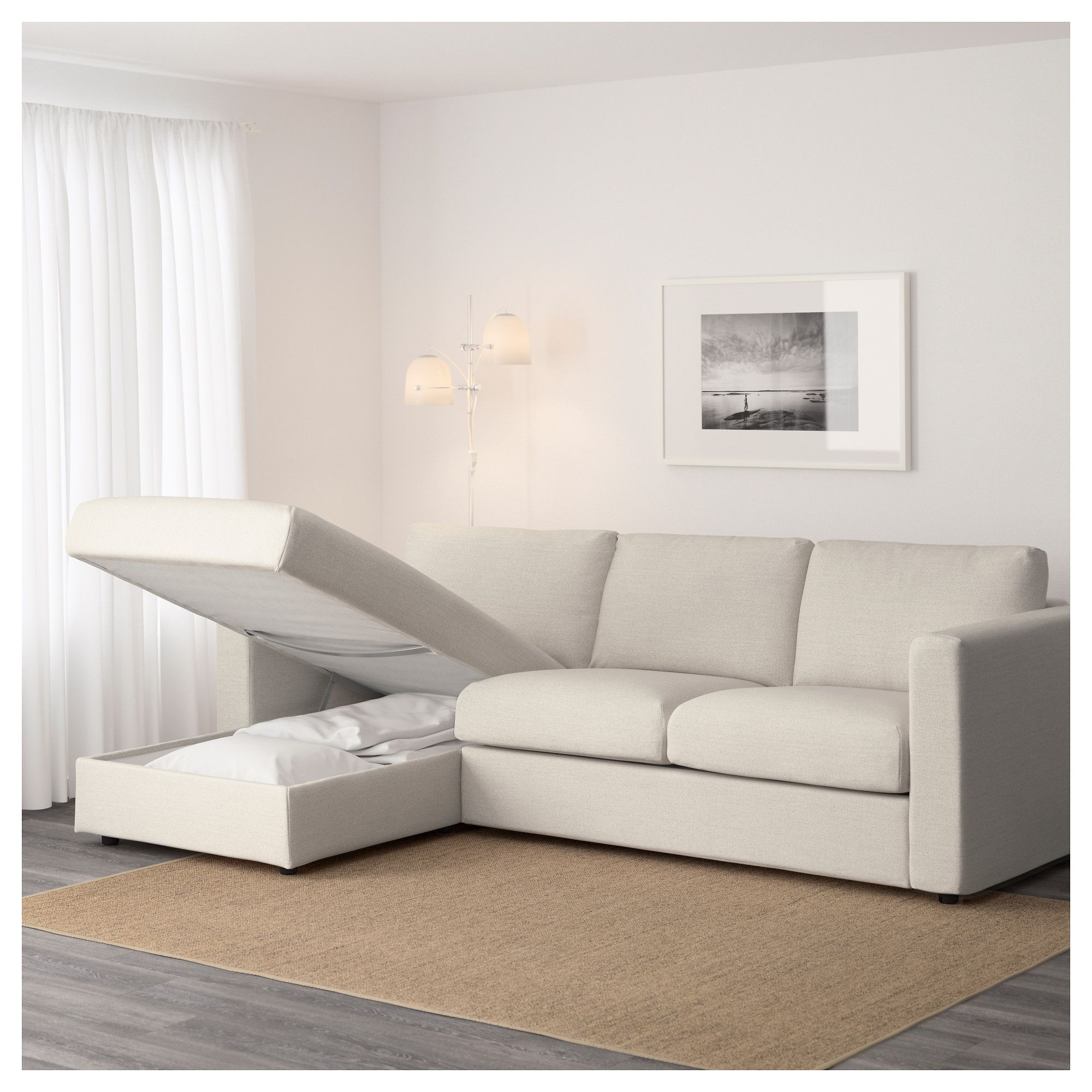 Chaise Ikea Salon Ikea Vimle Sofa With Chaise Gunnared Beige Hipster Home Decor