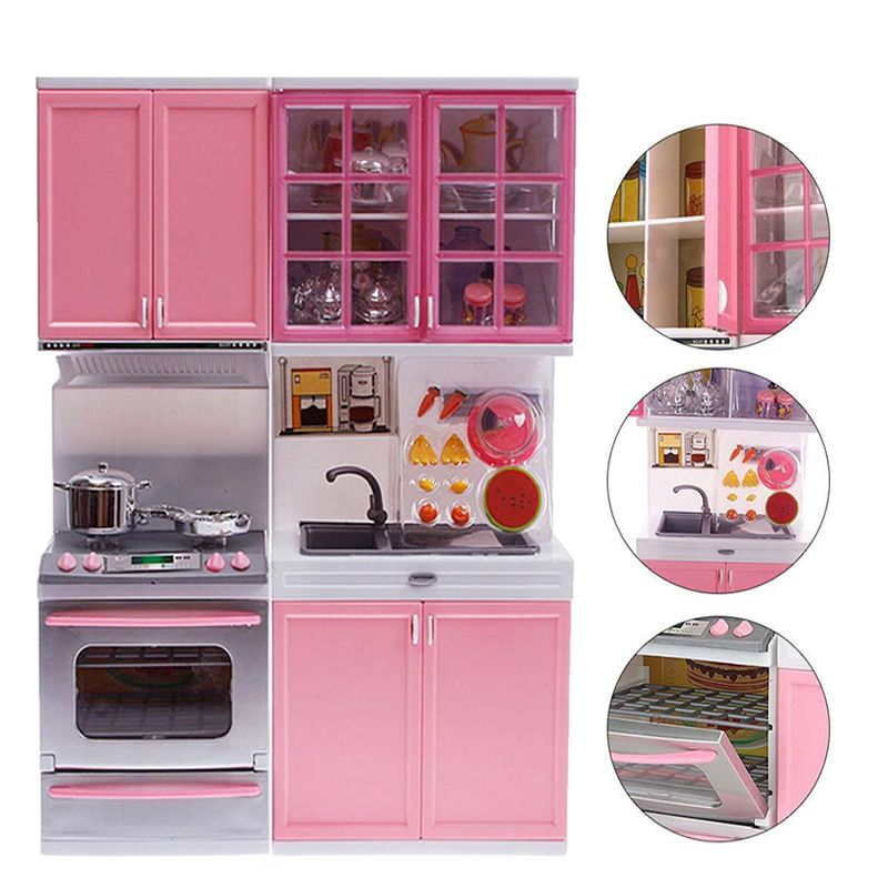 98adef061 Pink Sale Kid Kitchen Fun Toy Pretend Play Cook Cooking Cabinet Stove Set  Toy girls toys kids toys online kids kitchen sets
