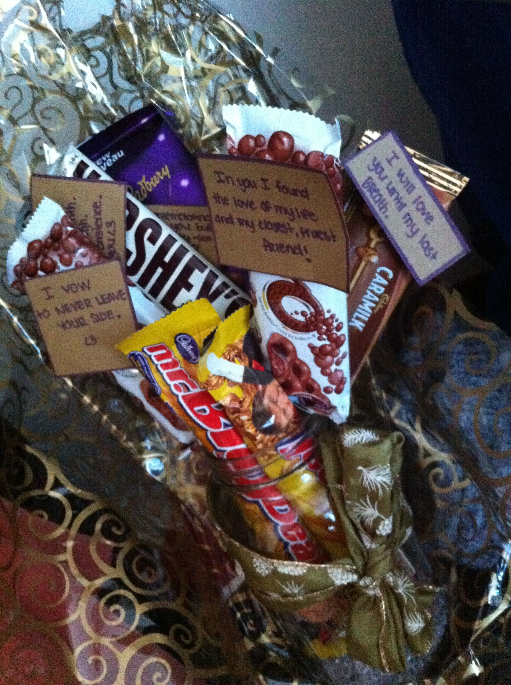 Chocolate Bouquet For Him Small Gift The Hubby Great DIY Idea Ladies