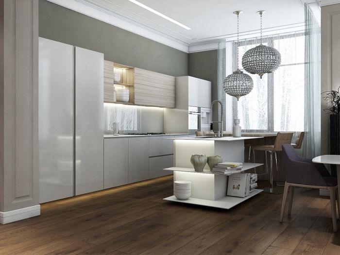 ▷ 1001 + modèle d\u0027implantation cuisine parfaite pour votre espace - Modele De Cuisine Moderne Avec Ilot