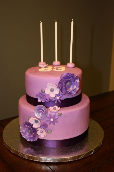Magnificent Grandmas 83Rd Purple Birthday Cake With Images Purple Cakes Funny Birthday Cards Online Chimdamsfinfo