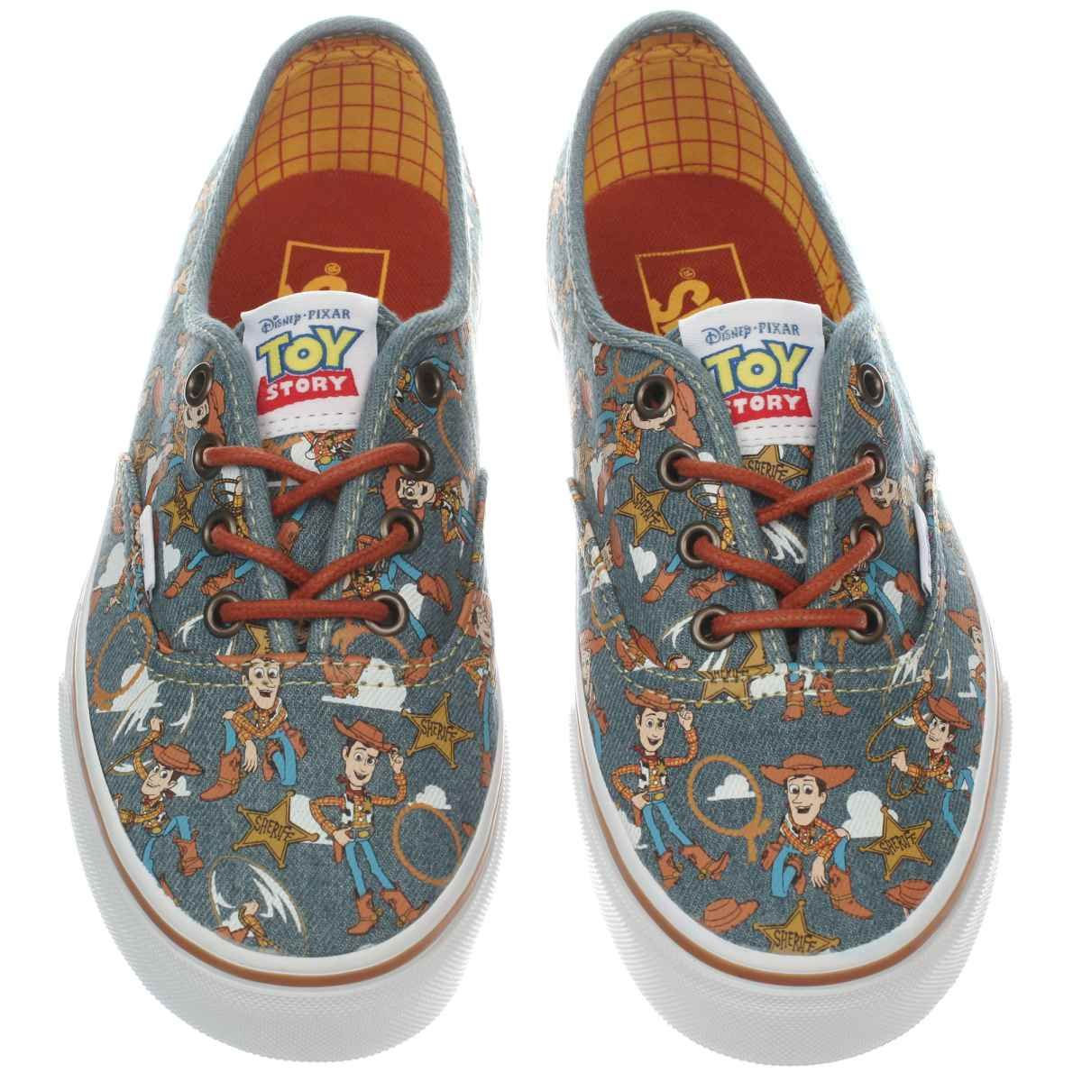 womens vans navy authentic toy story woody trainers