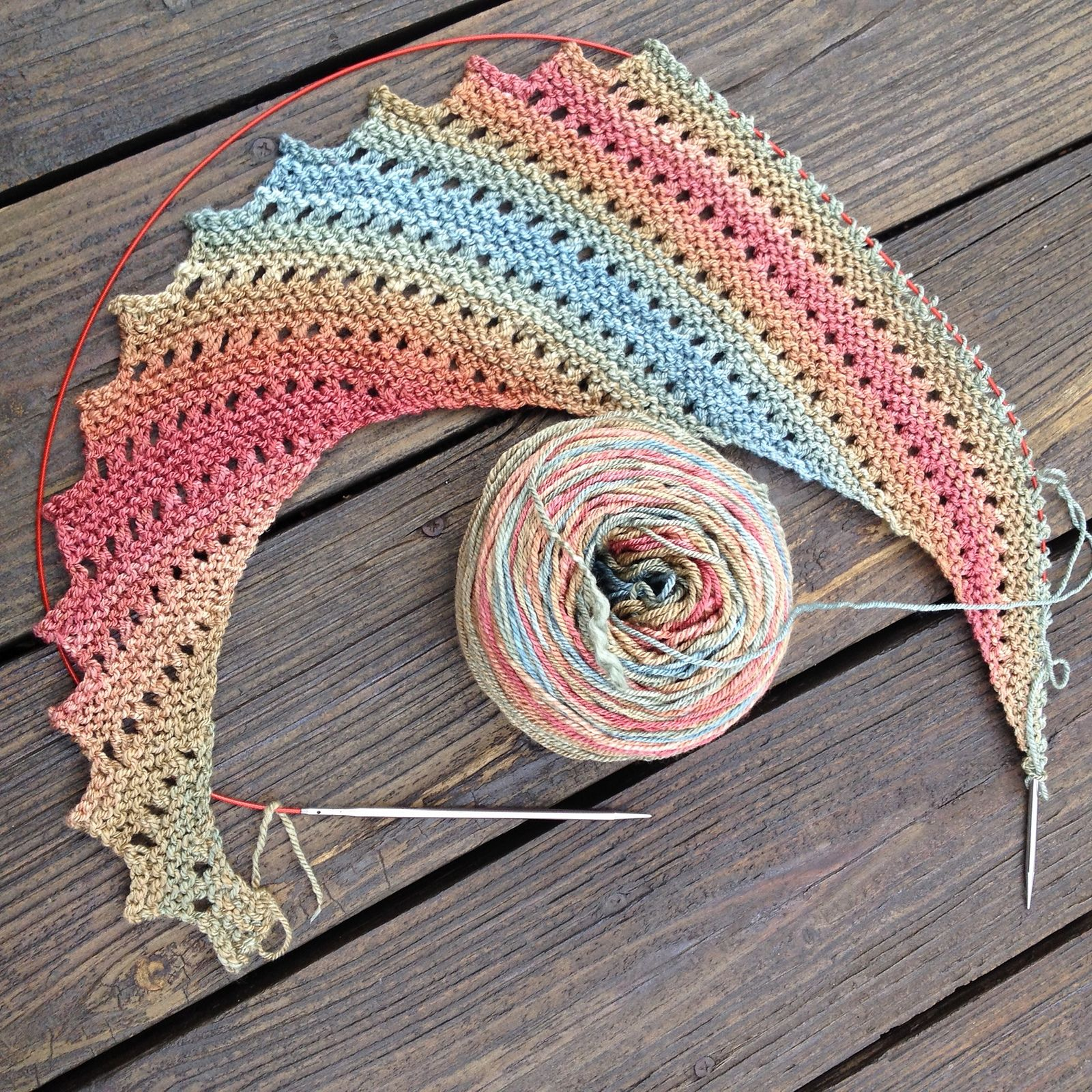 Hitchhiker pattern by Martina Behm | Pinterest | Tücher, Stricken ...