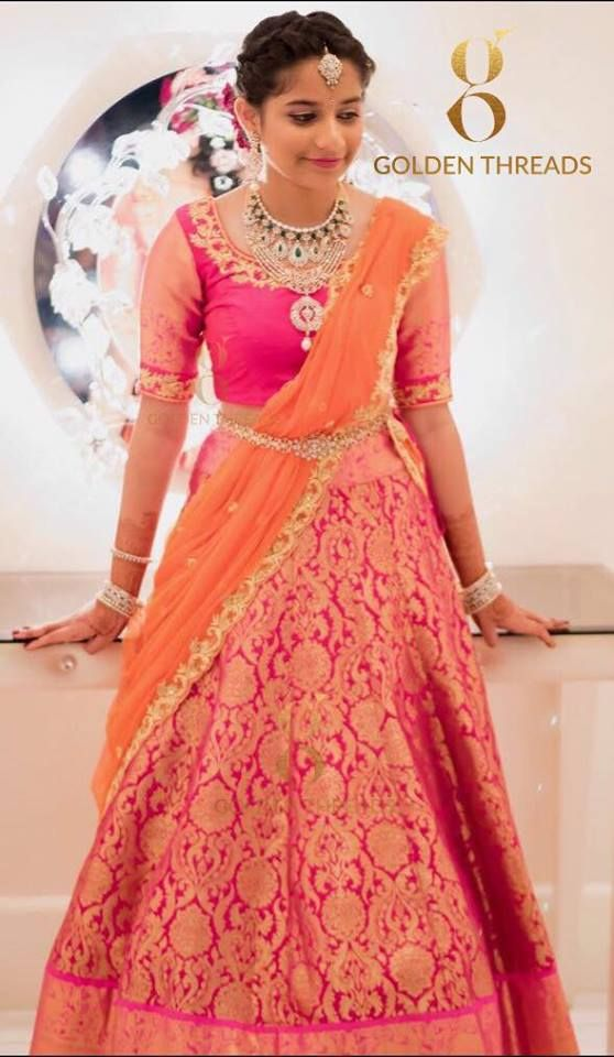 Pin by latha naidu on Bridal wear and jewels | Pinterest | Half ...