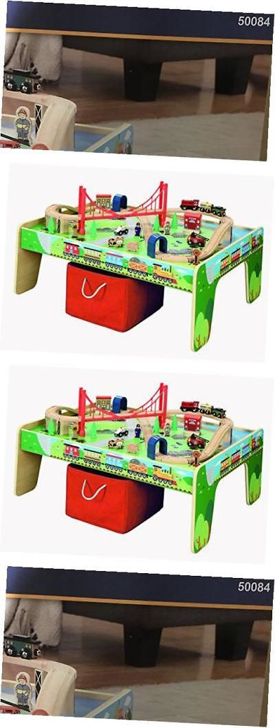 Brio Compatible 16517 50 Piece Train Set With Train Play Table - Brio And Thomas & Brio Compatible 16517: 50 Piece Train Set With Train Play Table ...