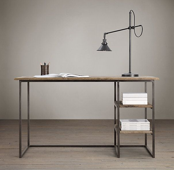 industrial furniture hardware. Fulton Desk Is Another Of Restoration Hardware´s Beautiful And Timeless Pieces Furniture. The Vintage Style Has A Simple, Functional Minimalist Industrial Furniture Hardware