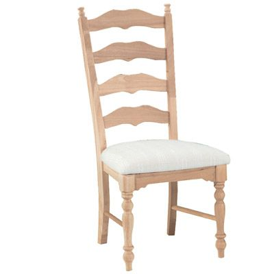 Parawood Maine Ladderback Chair - Unfinished furniture New Jersey ...