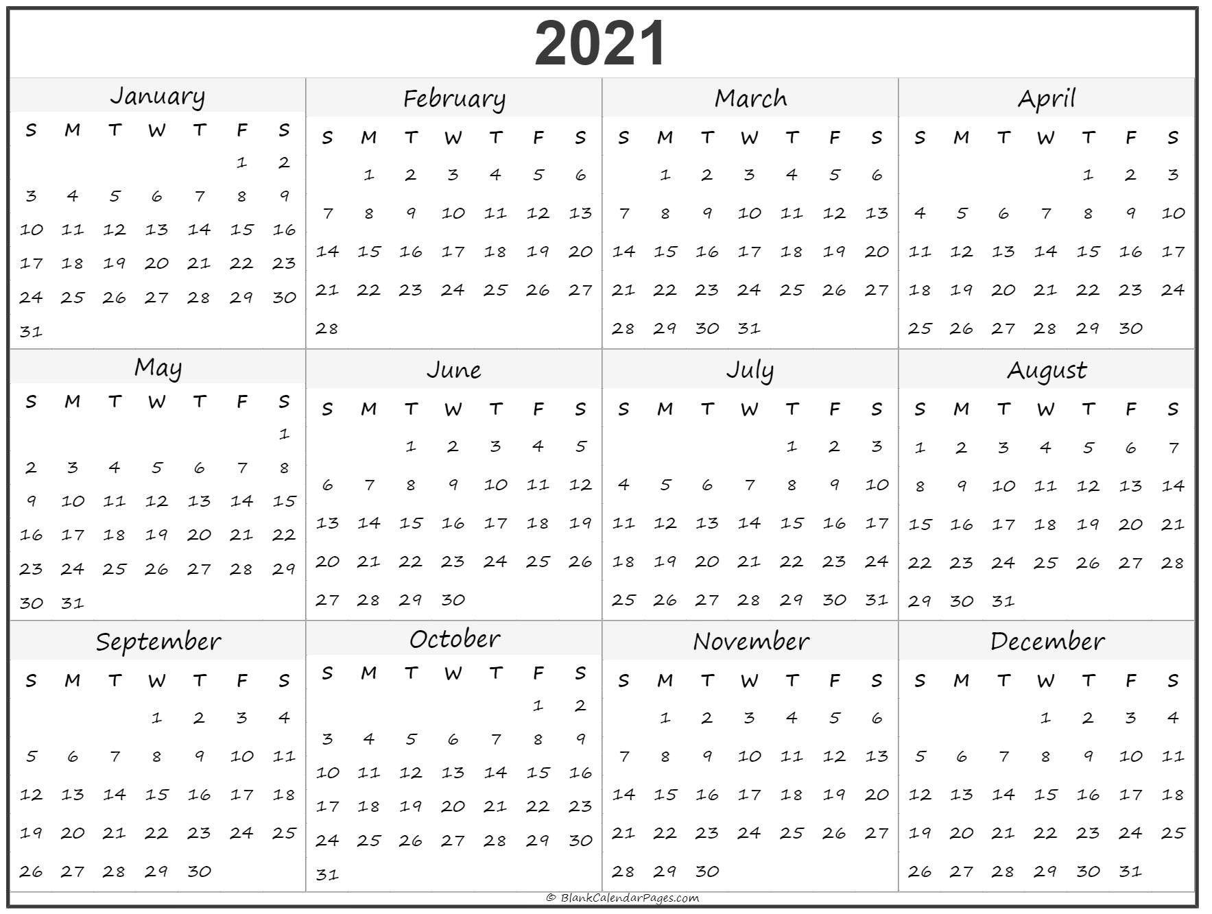 2021 Year Calendar In 2020 Printable Calendar Design Print Calendar Calendar Printables