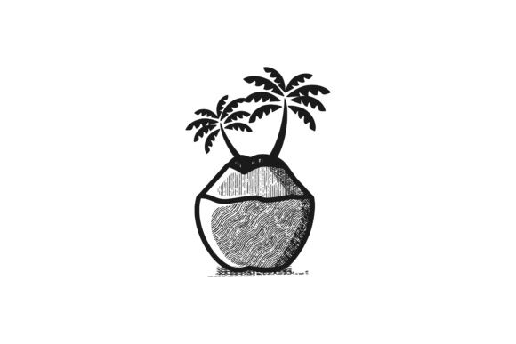 Coconut Tree Logo Graphic By Wangs Creative Fabrica Tree Logo Design Coconut Tree Drawing Tree Logos