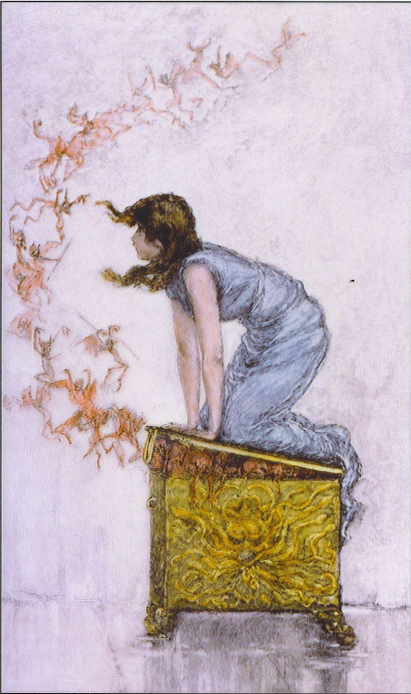 Pandoras box wallpaper image featuring english sculpture - Fantasy Art