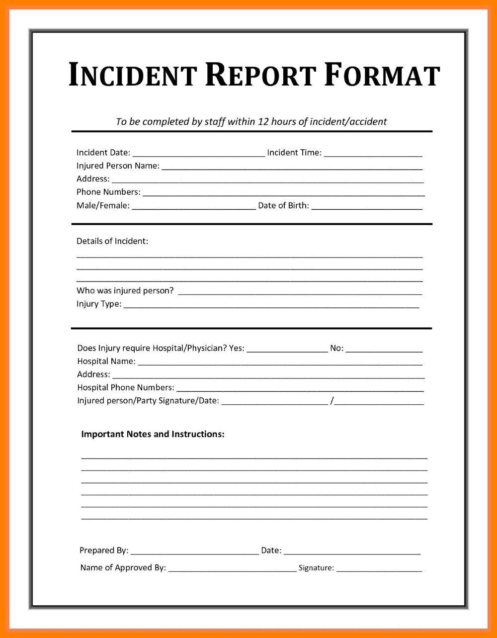 How To Write A Report Of An Incident Sansurabionetassociats Pertaining To Ohs Monthly Report Template 10 Incident Report Form Incident Report Report Template