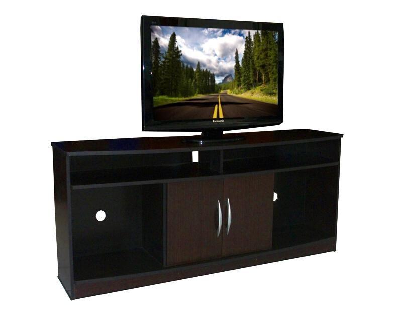Mesa para tv zati chocolate mueble tv muebles muebles for Muebles para television de madera modernos