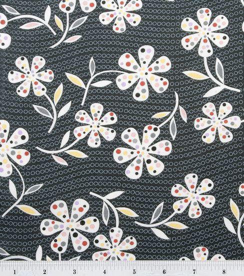 Keepsake Calico Fabric- Dot Daisy Gray : quilting fabric & kits ... : joann quilting fabric - Adamdwight.com