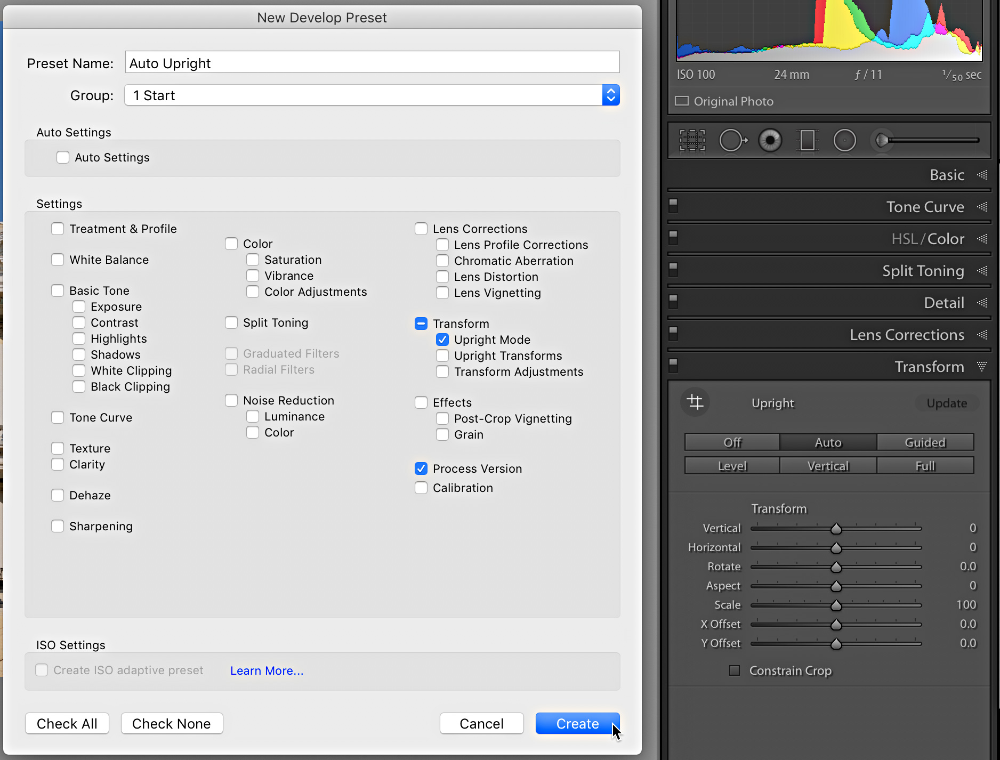 Lightroom apply auto tone to all images