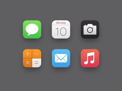 iOS7 Icons Ios 7, Interactive design, Mobile web design