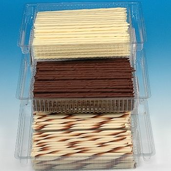 How to make chocolate cigarettes for cake decorating and ice cream sticks