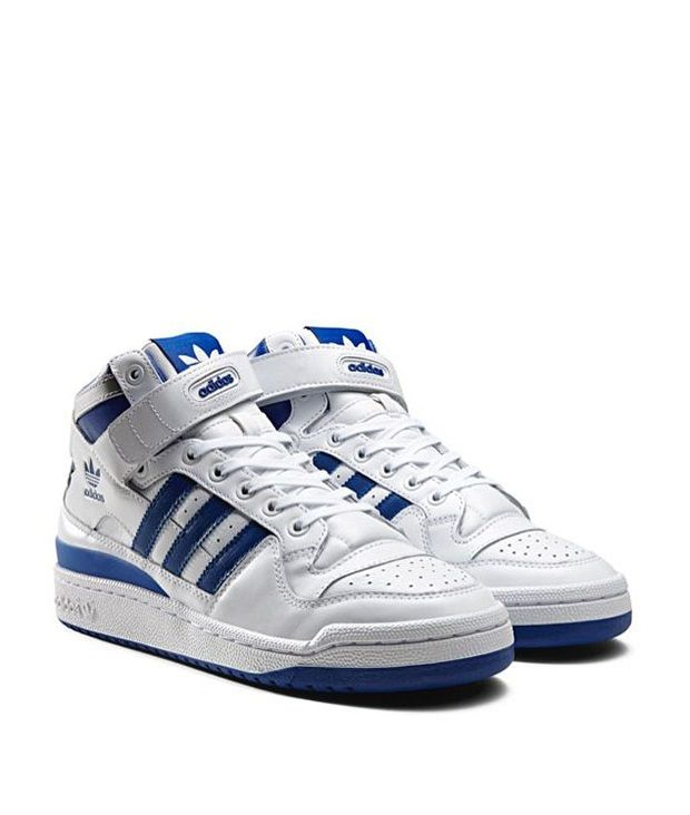 adidas Originals Forum Mid 'Refined': WhiteBlue | Sneakers