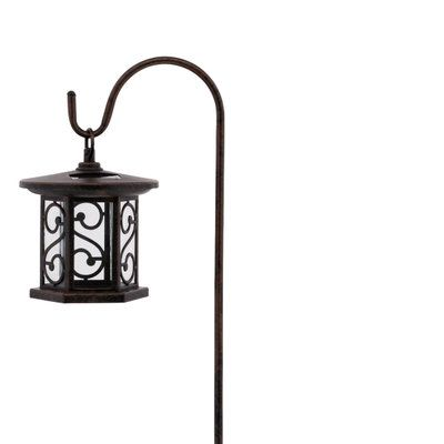 Hampton Bay Pathway Lights Fair Hampton Bay Solar Bronze Outdoor Integrated Led Shepherds Hook Decorating Design