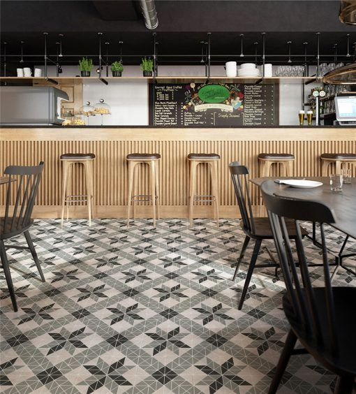 Commercial Cafe Restaurant Design With A Satisfyling Floor Design