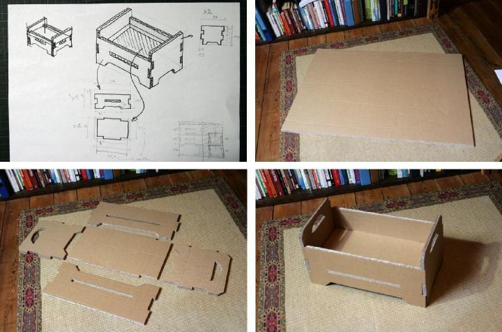 Lit en carton pour poup e meubles barbie faire soi m me pinterest carton lits et meubles - Meuble en carton a faire soi meme ...