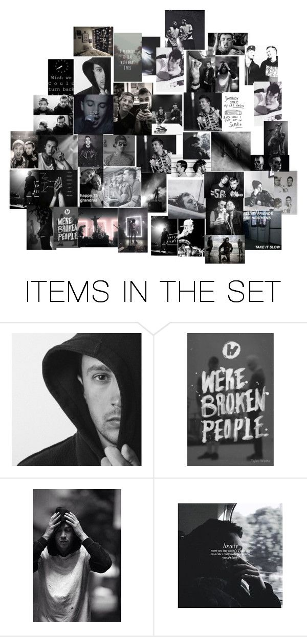 """""""twenty one pilots"""" by phandom-heh ❤ liked on Polyvore featuring art"""