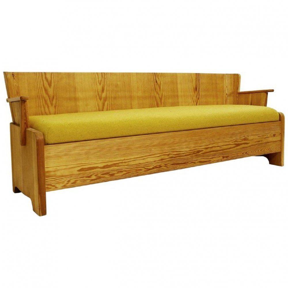 Pine Sofa Bench By Goran Malmvall Circa 1950 101609 Sofa Bench Modern Leather Sofa Pine Chairs