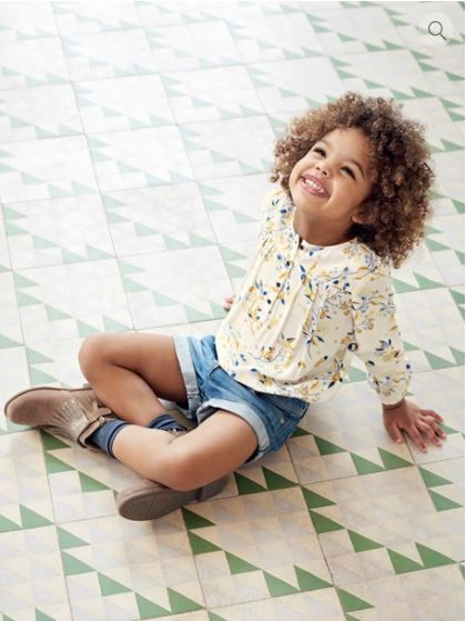 1b45328f4c3c9 Blouse fille imprimée manches longues Vertbaudet - mode enfant - mode fille  - collection automne hiver