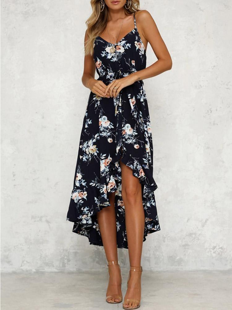 Dresses for Women Boho Maxi Dress Ruffle Off Shoulder Casual Cocktail Party Long Slit Hem Sundress