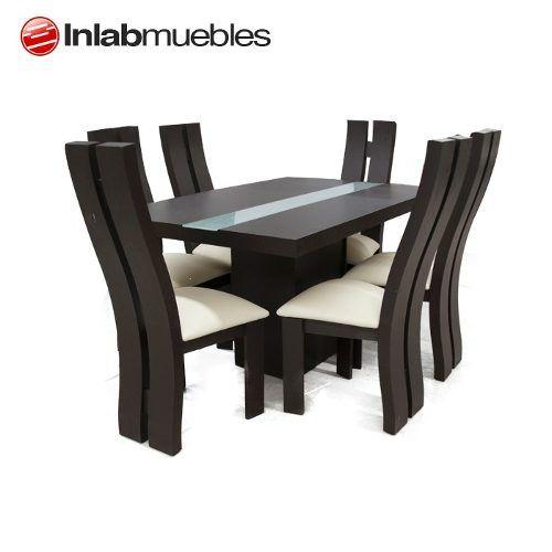 Comedor minimalista 6 sillas solo de inlab muebles en dmm for Comedor moderno minimalista