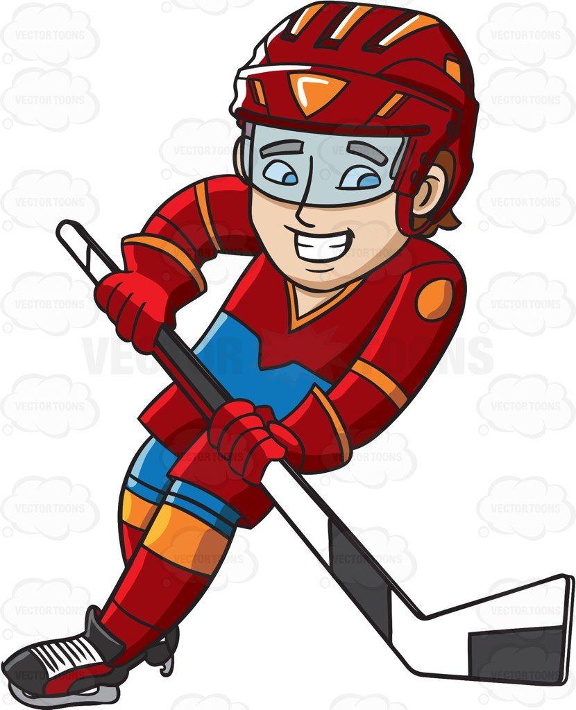 A Hockey Player Swirls Into The Ice Rink Hockey Players Hockey Red Helmet