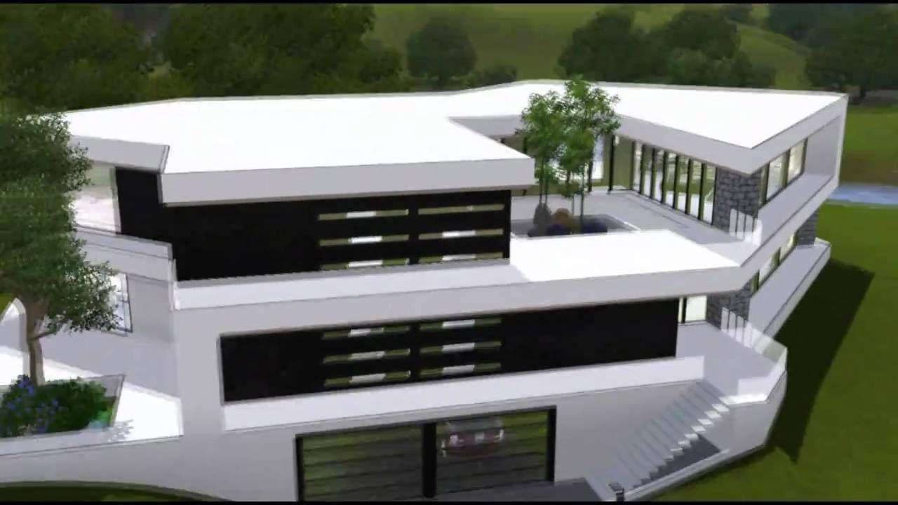 The Sims 3 House Ultra Modern B Mansion Hd Sims House Modern House Plans Minimalist House Design