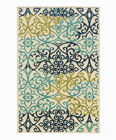 Seafoam Fl Indoor Outdoor Rug By Oriental Weavers Several Sizes Available From 23 99 254