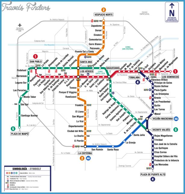 Santiago Chile Subway Map
