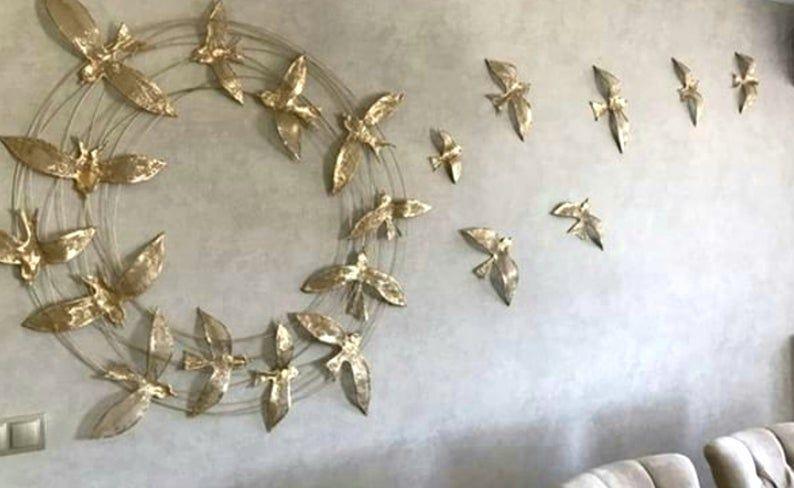 Grosse Metall Wand Dekor 150x150cm Outdoor Wand Dekor 3d Wand