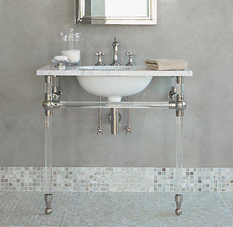 Palmer lucite vanity | Bathroom, Apothecary bathroom ...