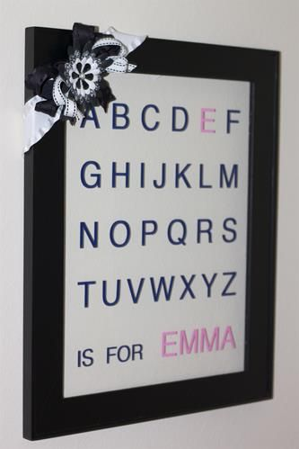 - Personalized ABC Frame